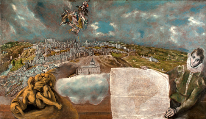 Domenico Theotokopoulos (El Greco). View and Plan Toledo