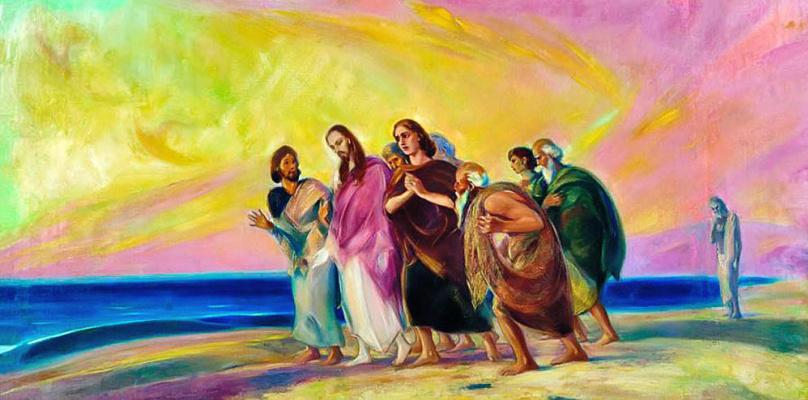 Святослав Николаевич Рерих. Христос с учениками