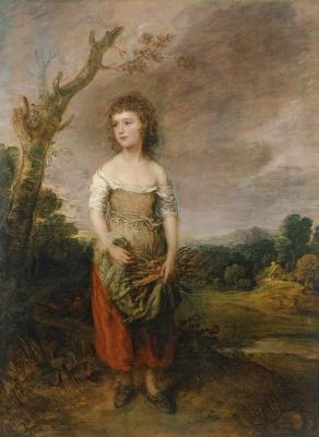 Thomas Gainsborough. A peasant girl collecting firewood