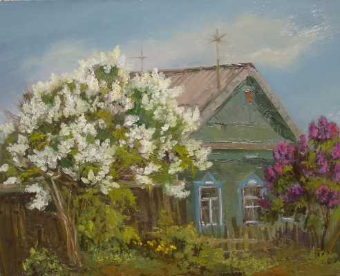 Elena Valyavina. Lilac in bloom