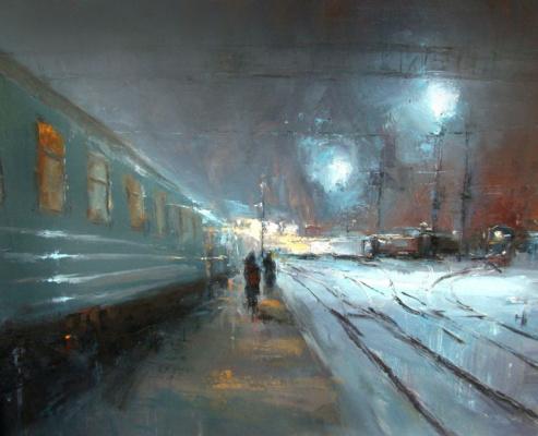 Alexander Kabin. Night platform