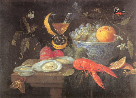 Jan van Kessel Elder. Still life with glass