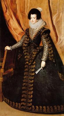Diego Velazquez. Portrait of Queen Isabella of Bourbon