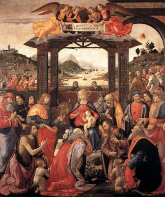 Domenico Girlandajo. The adoration of the Magi
