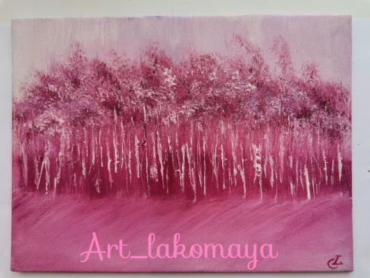 Olga Lakomaya. Pink grove