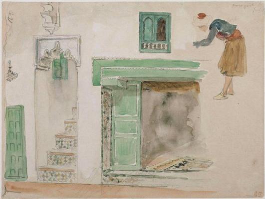 Эжен Делакруа. Двери и окна мавританского дома