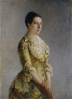 Nikolai Nikolaevich Ge. Portrait of Princess Olga Petrovna Volkonskaya, nee Kleinmichel