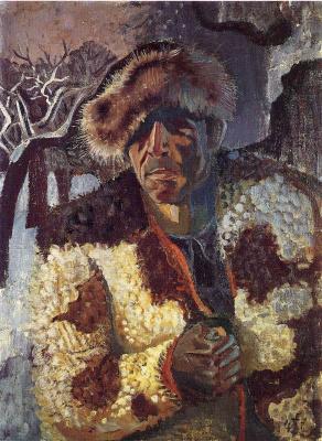 Отто Дикс. Автопортрет с меховой шапке