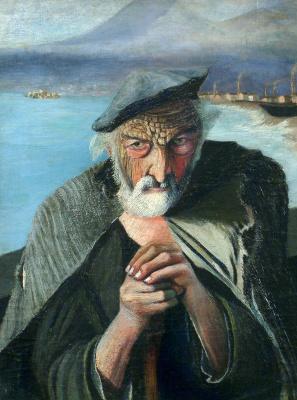 Tivadar Kostka Chontvari. Old fisherman