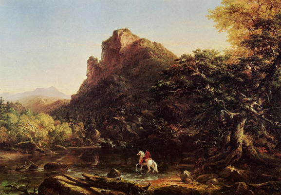 Thomas Cole. Mountain Ford
