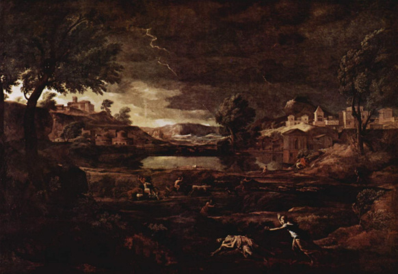 Nicola Poussin. Landscape with Pyramus and Fishboy