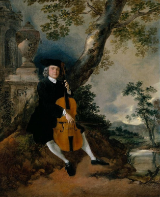 Thomas Gainsborough. Reverend John Chafee, who plays the cello in a landscape