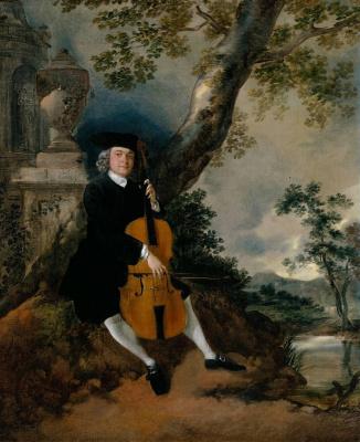 Томас Гейнсборо. Преподобный Джон Чафи, играющий на виолончели на фоне пейзажа