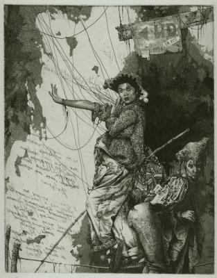 Alexander Nikolayevich Steshenko. Procession along the wire. Puppet Master Sheet 2