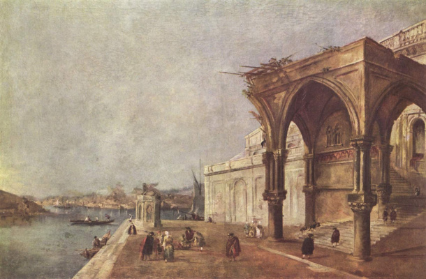 Франческо Гварди. Каприччио с венецианскими мотивами