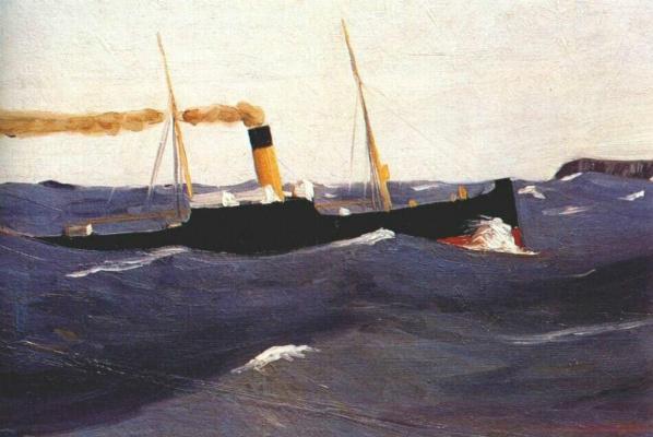 Edward Hopper. Tramp steamer