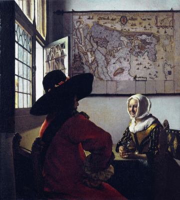 Jan Vermeer. Officer and a laughing girl