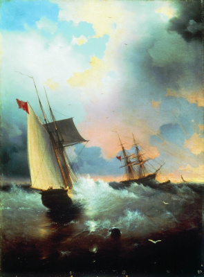 Ivan Aivazovsky. Sailboat