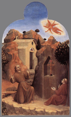 Сассетта. Получение стигмат святым Франциском