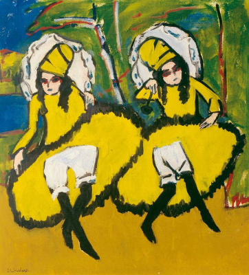 Ernst Ludwig Kirchner. Two dancers