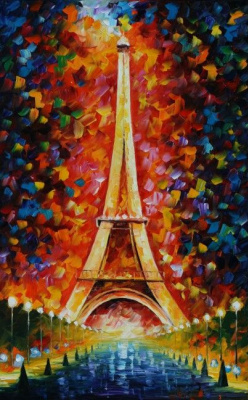 Leonid Afremov. Eiffel tower