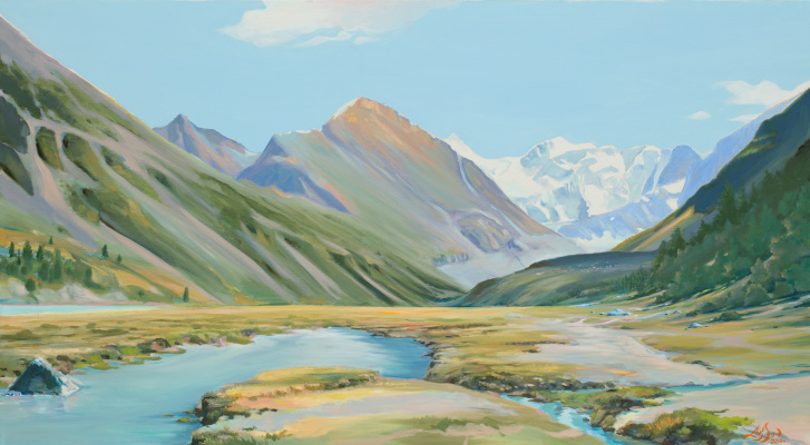 Dmitry Anatolyevich Ostapchuk. View of the Belukha. Mountain Altai.