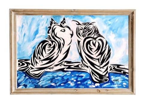 Elena Anatolyevna Kamelina. ,, Owls ,, - abstraction