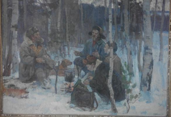 """Петр Никифорович Богачев. """"Охотники"""""""