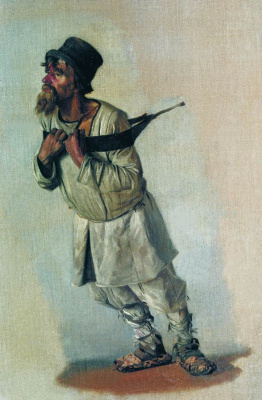 """Vasily Vereshchagin. Burlak, holding hands for the strap. Study for an impossible painting """"burlaki"""""""