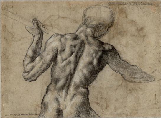 Michelangelo Buonarroti. The battle of Cascina (sketch)