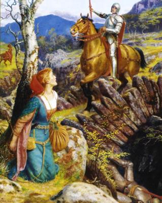 Arthur Hughes. Overthrowing The Rusty Knight