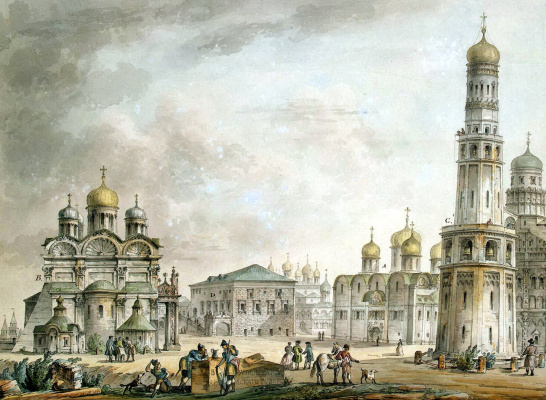 Giacomo Quarenghi. Cathedral square in the Moscow Kremlin