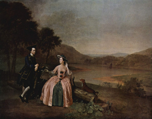 Портрет сэра Джорджа и леди Стриклэнд в парке
