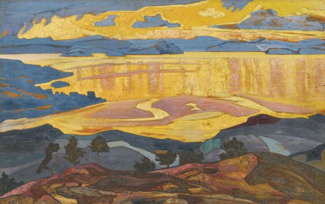 Nicholas Roerich. Before the rain