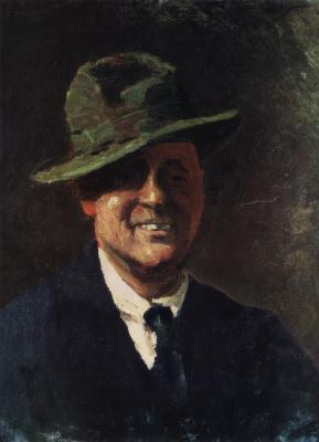 Igor Grabar. Self-portrait in a hat