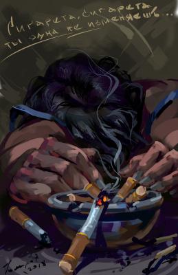 Igor Vladimirovich Komarov. Cigarette