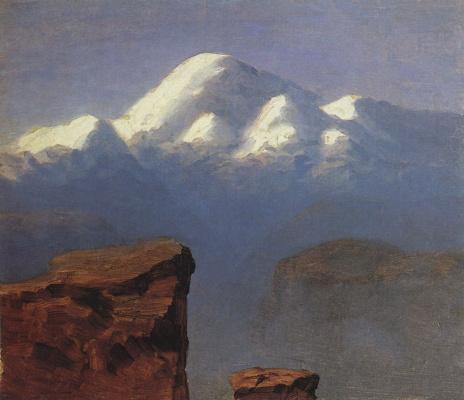 Arkhip Ivanovich Kuindzhi. The summit of mount Elbrus in the sunlight