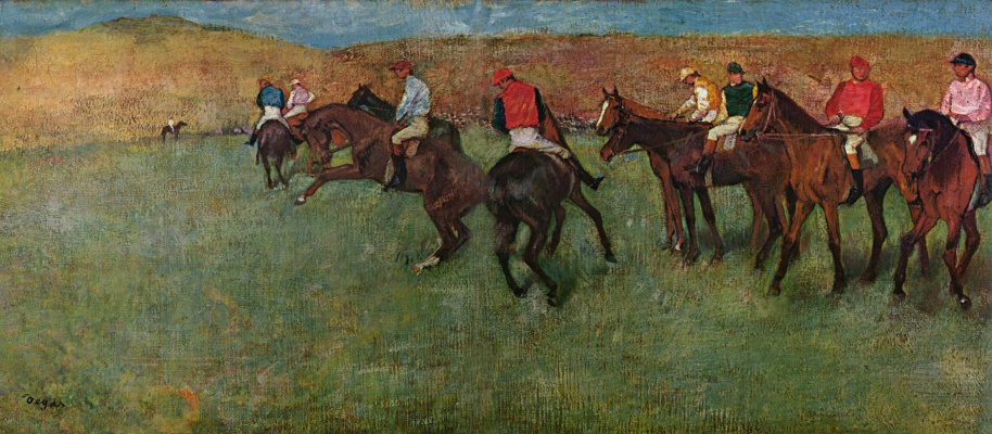 Edgar Degas. Before the race