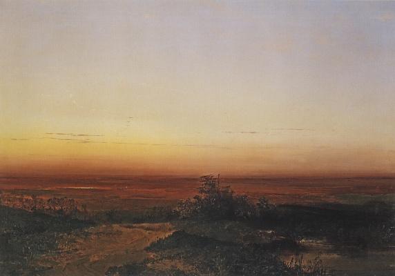 Alexey The Kondratyevich Savrasov. Dawn in the desert