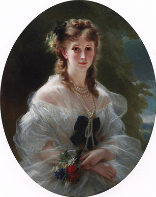 Franz Xaver Winterhalter. Princess Sofia Trubetskaya, Duchess of Morny