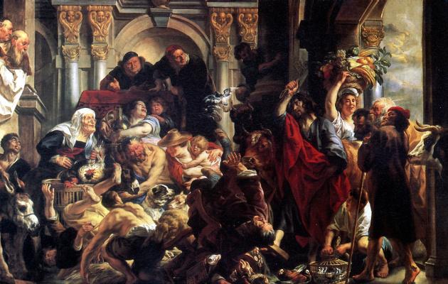 Якоб Йорданс. Изгнание торгующих из храма
