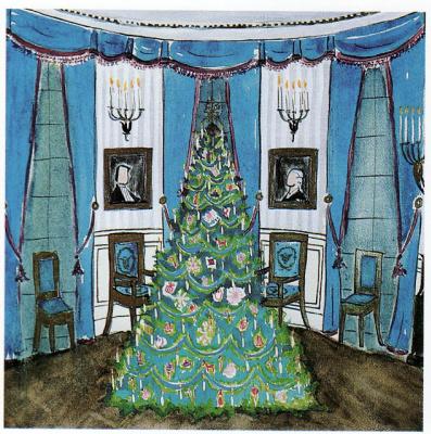 Жаклин Кеннеди. Рождественская елка в голубой комнате