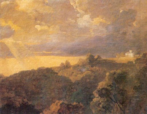 Petr Vasilyevich Basin. Evening landscape