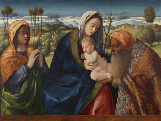 "Giovanni Bellini. Madonna with the baby ""Now let go ..."". Song of Simeon the God Receiver"