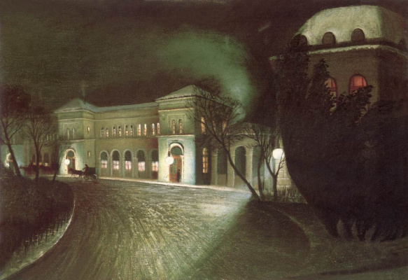 Tivadar Kostka Chontvari. East Station at night