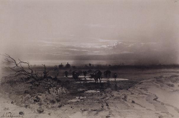 Alexey The Kondratyevich Savrasov. Evening. Moonrise