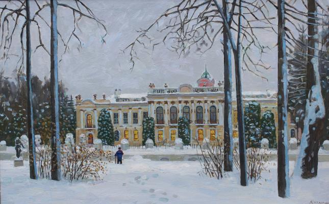 Eugene Alexandrovich Kazantsev. Winter in Timiryazevsky Park.