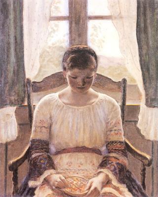 Фридрих Карл Фриске. Сидящая девушка
