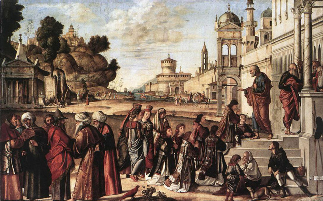 Vittore Carpaccio. St. Stephen is consecrated deacon