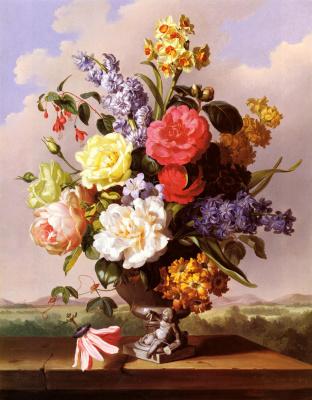 Антон Гартингер. Цветы в вазе